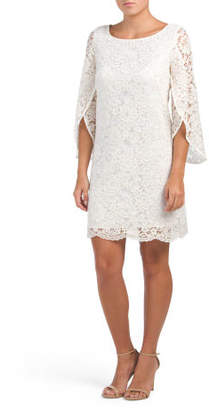 Tulip Sleeve Lace Dress