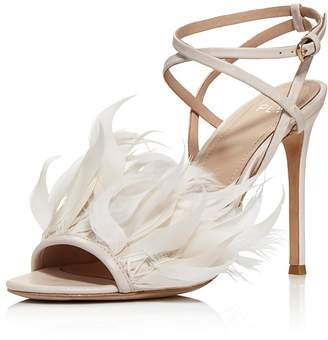 Pour La Victoire Women's Elexi Feather Embellished High Heel Sandals