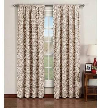 Window Elements Valencia Printed Cotton Extra-Wide Rod Pocket Curtain Panel Pairs