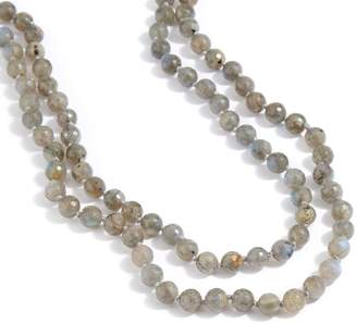 "Dee Berkley 50"" Labradorite Bead Necklace"