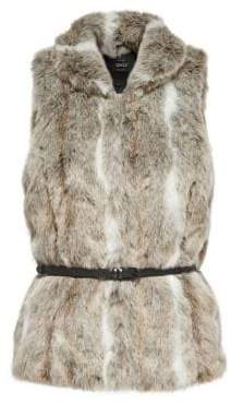 Only New Amy Faux Fur Waistcoat