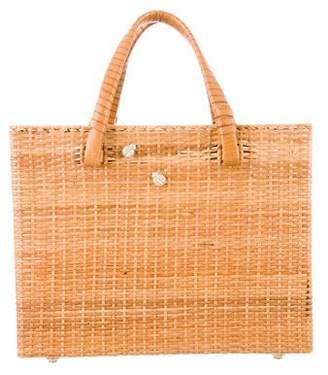 Kieselstein-Cord Wicker Box Bag