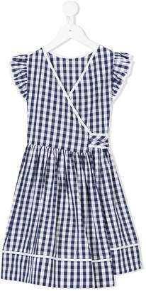 Il Gufo checked wrapped dress