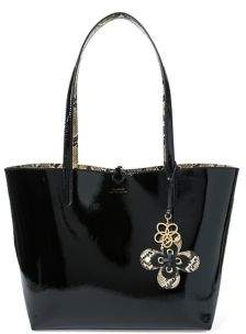 Lauren Ralph Lauren Reversible Faux-Leather Tote with Two Zip Pouches