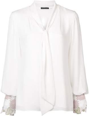 Josie Natori tie front blouse