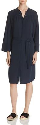 Vince Silk Shirred Shirt Dress $425 thestylecure.com