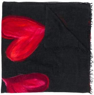 Faliero Sarti heart print scarf