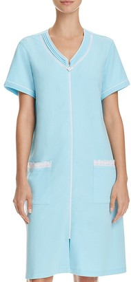 Eileen West Terry Short Sleeve Short Zip Robe $66 thestylecure.com