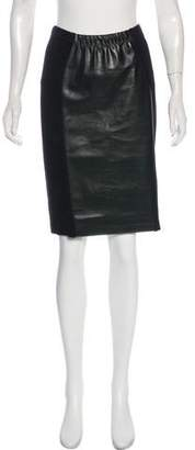 Yoana Baraschi Faux Leather Knee-Length Skirt