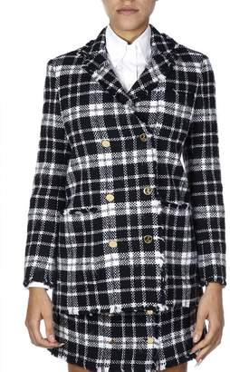 Thom Browne Tartan Tweed Check Wool Jacket