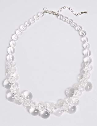 Marks and Spencer Clear Ball Collar Necklace