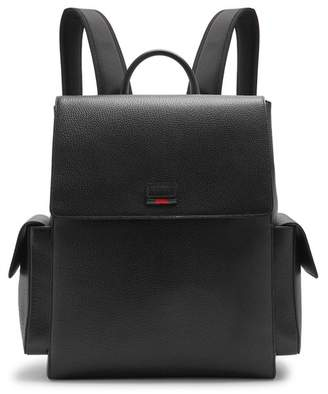 Gucci Grained Leather Backpack - Mens - Black