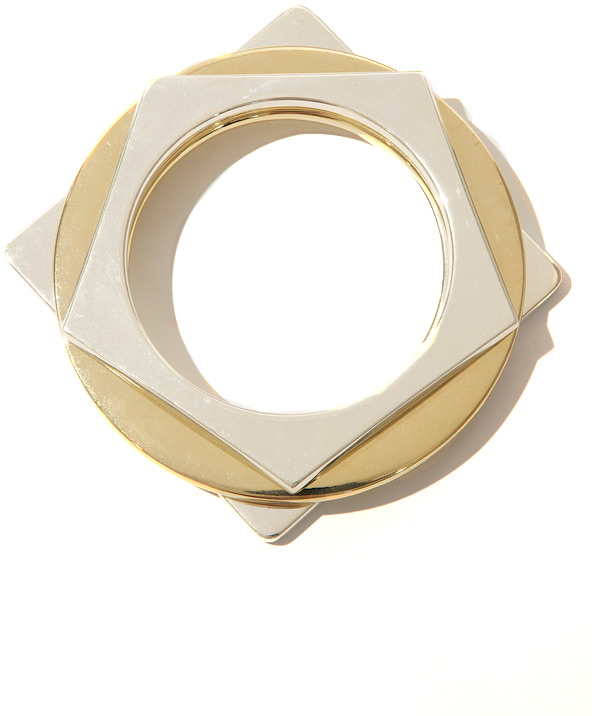 Eddie Borgo Geometric Bangle Set