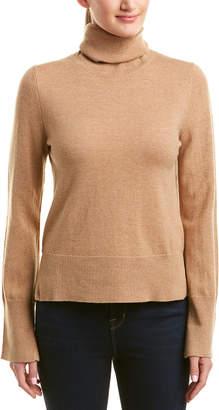 White + Warren Wool & Cashmere-Blend Turtleneck Sweater