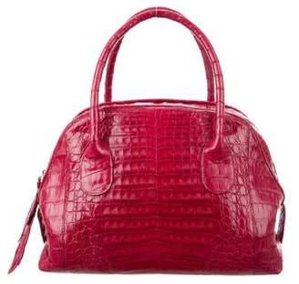 Nancy Gonzalez Crocodile Leaf Bowler Bag