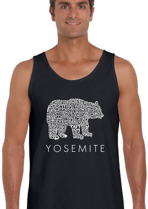 LOS ANGELES POP ART Los Angeles Pop Art Men's Word Art Yosemite Bear Tank Top Big & Tall
