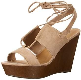 Qupid Women's Gimmick-31Ax Wedge Sandal