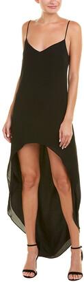 CAMI NYC High-Low Silk Maxi Dress