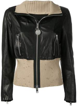 Diesel zipped up leather jacket