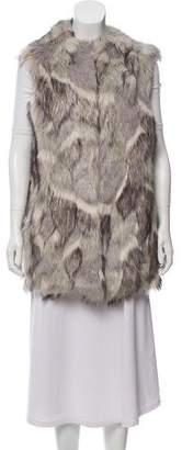 Reiss Heavy Faux Fur Vest