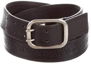 Christian Dior 2006 Embossed Leather Belt