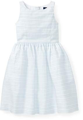 Ralph Lauren Ribbon Striped Cotton Dress