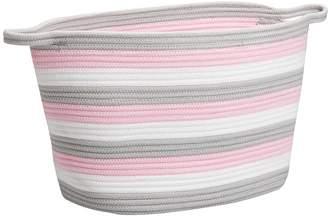 Pottery Barn Kids Pink Cotton Rope Basket, Large