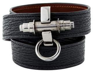 Givenchy Obsedia Leather Wrap Bracelet Obsedia Leather Wrap Bracelet