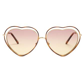 Chloé Poppy heart-shaped frame sunglasses