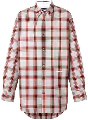 Calvin Klein oversized checked shirt