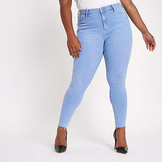 River Island Womens Plus light Blue wash Molly mid rise jeggings