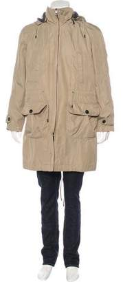 Malo Cashmere-Lined Woven Parka