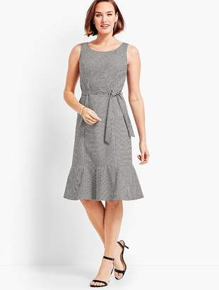 Talbots Flounce Dress - Gingham