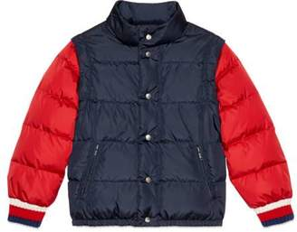 Gucci Children's nylon jacket with logo