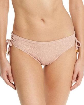 Suboo Metallic Tie-Side Cheeky Swim Bottom, Rose Gold $72 thestylecure.com