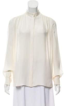 Tamara Mellon Silk Button- Up
