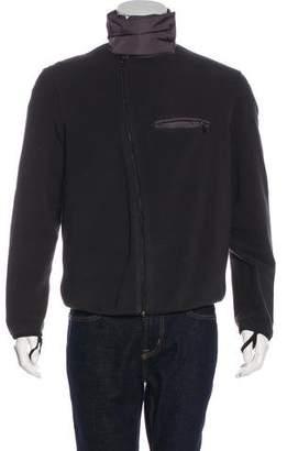 Prada Sport Fleece Zip-Up Sweatshirt