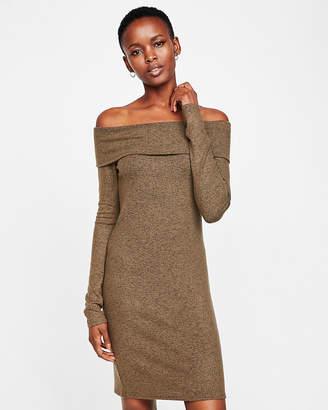 Express Fold-Over Off The Shoulder Dress
