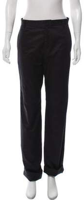 Givenchy High-Rise Straight-Leg Pants w/ Tags