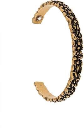 Gucci Lion mane cuff bracelet