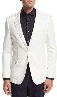 BOSS Textured Two-Button Sport Coat, White $545 thestylecure.com