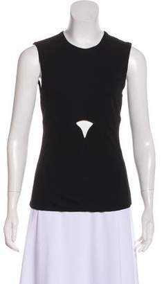 Gianni Versace Cutout SLeeveless Top