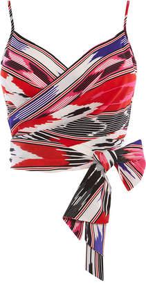 Karen Millen Printed Cropped Cami Top