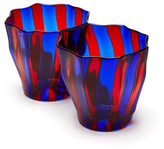 Murano Campbell Rey Campbell-rey - Rosanna Striped Glasses - Blue Multi