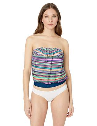 Catalina Women's Bandeau Blouson Tankini Swimsuit