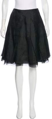Nina Ricci Layered Knee-Length Skirt Layered Knee-Length Skirt