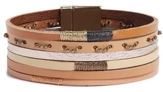 Panacea Multi Row Leather Bracelet