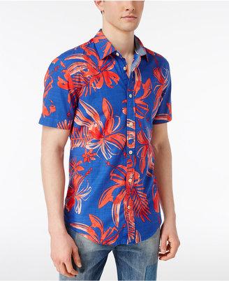 Tommy Hilfiger Men's Pasadena Tropical Print Shirt $69.50 thestylecure.com