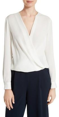 Women's Diane Von Furstenberg Marci Faux Wrap Silk Blouse $298 thestylecure.com