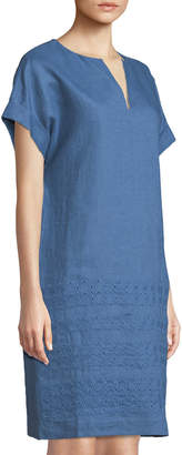 Lafayette 148 New York Fabian Eyelet Embroidered Tunic Dress